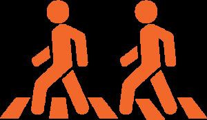 crossing lane icon